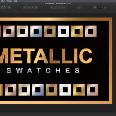 Buy Affinity Designer Metallic Swatches