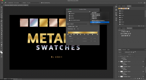 Buy Photoshop Metallic Swatches