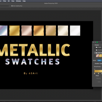 Buy and download Photoshop Metallic Gradient