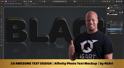 Affinity Photo Text Mockup with 10 awesome text design